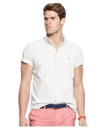 Polo Ralph Lauren | White Men's Short-sleeved Oxford Shirt for Men | Lyst