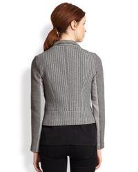 Sachin & Babi Gray Navarre Asymmetrical Draped Knit Jacket