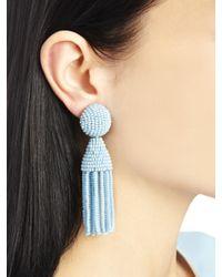 Oscar de la Renta | Pink Classic Short Tassel Earrings | Lyst