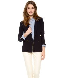 Band of Outsiders - Knit Double Breasted Blazer - Lyst
