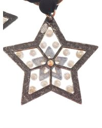 Lanvin - Black Altair Three Star Necklace - Lyst