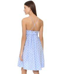Victoria, Victoria Beckham - Blue Fold Front Cami Dress - Lyst