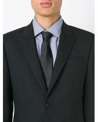 BOSS - Black Silk Tie for Men - Lyst
