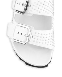 Kenneth Cole | White Erin Studded Leather Sandals | Lyst