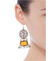 Lulu Frost | Orange '100 Year Vintage' Strass Flower Drop Earrings | Lyst