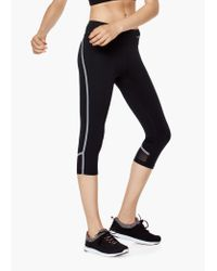 Mango | Black Fitness & Running - Slimming Effect Capri Leggings | Lyst