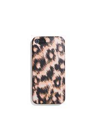 COACH - Pink Iphone 5 Case In Metallic Ocelot Print - Lyst