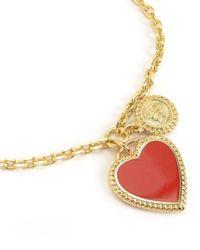 Juicy Couture   Metallic Enamel Heart Wish Bracelet   Lyst