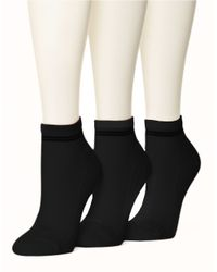 Hue | Black Air Cushion Sport Quarter Top Socks | Lyst
