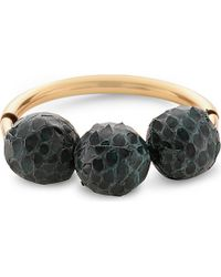 Marni | Black Leather Beaded Bracelet - For Women | Lyst
