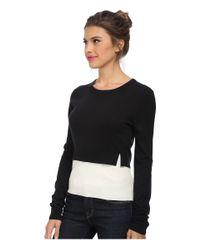 BCBGMAXAZRIA - Black Suzzane Color Blocked Pullover - Lyst