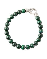 Stephen Webster | Green Beaded Malachite Bracelet for Men | Lyst