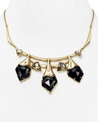 "Alexis Bittar - Metallic Miss Havisham Multi-Stone Articulating Bib Necklace, 16"" - Lyst"