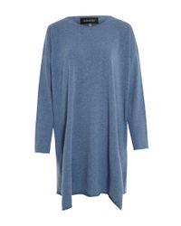 Eskandar - Light Blue Slim Bateau Neck Cashmere Knit Jumper - Lyst