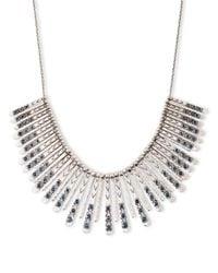 Lucky Brand | Metallic Silver-tone Blue Collar Necklace | Lyst