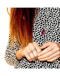Adornia | Metallic Blue Sapphire And Sterling Silver Zig Zag Stacking Ring | Lyst