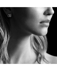 David Yurman | Metallic Confetti Stud Earrings With Diamonds And Gold | Lyst