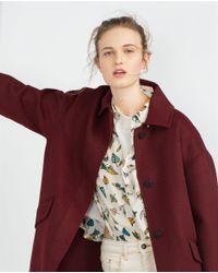 Zara | Purple Hand Made Coat | Lyst