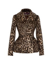 Martin Grant | Multicolor Leopard Fitted Peacoat | Lyst