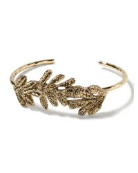 Banana Republic | Metallic Hammered Leaf Bangle | Lyst