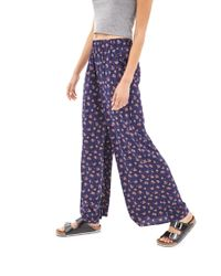Forever 21 - Blue Wildflower Wide-Leg Pants - Lyst