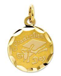 Macy's | Metallic 14k Gold Charm, Graduation Cap Charm | Lyst