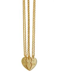 Nasty Gal - Metallic Best Bitches Necklace Set - Lyst