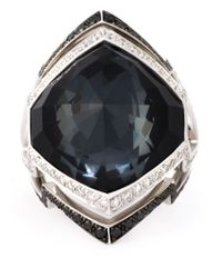 Stephen Webster | Metallic 18Kt White Gold Diamond Quartz Ring | Lyst
