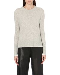 Rag & Bone | Gray Flavia Tipped-trim Cashmere Jumper | Lyst