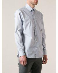 Ferragamo - Blue Mini Print Shirt for Men - Lyst