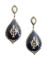 Amrapali | Blue Sapphire And Diamond Teardrop Chandelier Earrings | Lyst