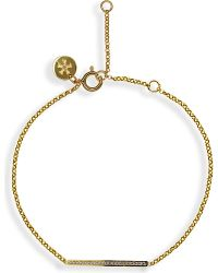 Carat* | Metallic Chelsea Bar Yellow Bracelet | Lyst