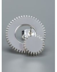 Clarice Price Thomas - Metallic Large Winding Wheel Stud Earrings - Lyst