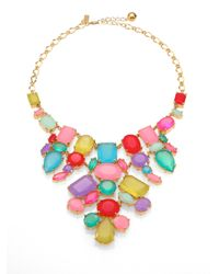 kate spade new york | Pink Gumdrop Gems Bib Necklace | Lyst