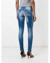 Philipp Plein   Blue 'better Day' Skinny Jeans   Lyst
