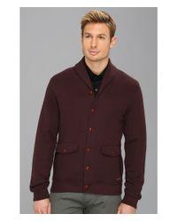 Ted Baker - Purple Farfell Shawl Collar Cardigan for Men - Lyst
