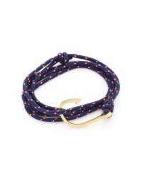 Miansai - Blue Anchor Wrap Bracelet for Men - Lyst