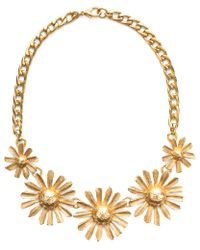 Gerard Yosca | Metallic Flower Power Necklace | Lyst