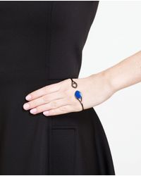 Gaydamak - Blue Oxidised Gold And Lapis Hand Bracelet - Lyst