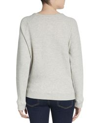 Pjk Patterson J. Kincaid - Gray Owl-print Paneled Sweatshirt - Lyst
