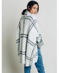 Free People - White Womens Window Pane Check Jacket - Lyst