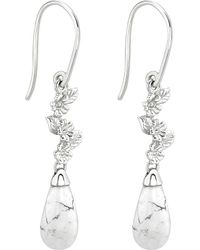 Theo Fennell - Metallic Sterling Silver And Jade Howlite Earrings - For Women - Lyst