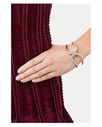 Alexis Bittar - White Crystal Encrusted Hinge Bracelet - Gold - Lyst