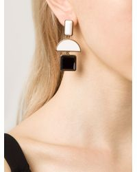 Lizzie Fortunato | White Geometric Drop Earrings | Lyst