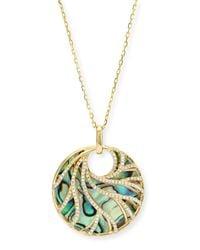 Frederic Sage | Metallic Venus Abalone & Diamond Swirl Pendant Necklace | Lyst