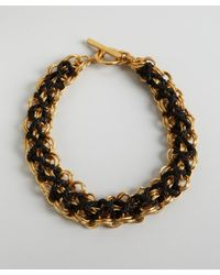 Ben-Amun - Metallic Black and Gold Toggle Woven Choker Necklace - Lyst