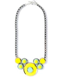 Anton Heunis - Yellow Coloured Disc Necklace - Lyst