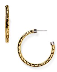 Marc By Marc Jacobs - Metallic Hula Hoop Earrings - Lyst