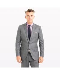 J.Crew | Gray Ludlow Suit Jacket In Heathered Italian Wool Flannel for Men | Lyst
