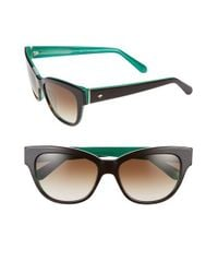 kate spade new york | Green 'aisha' 54mm Cat Eye Sunglasses | Lyst